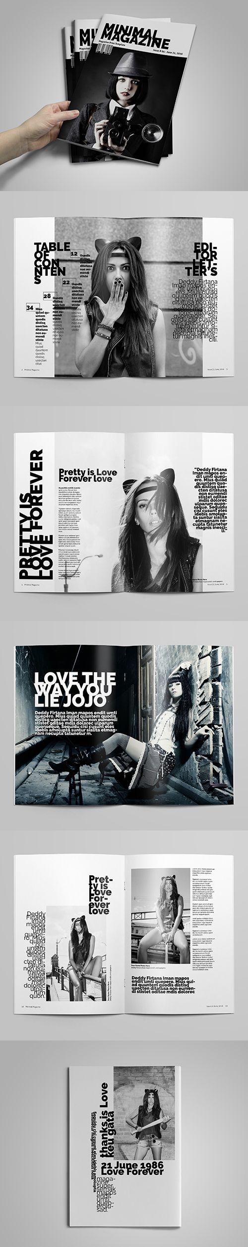 Minimal A4 Magazine/Catalog Template