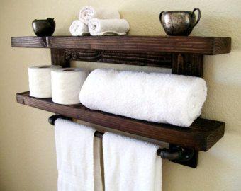 Bathroom Towel Rack Towel Bar Towel Hook Towel by TheVineyards