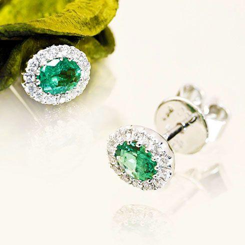 Romantic emeralds earings