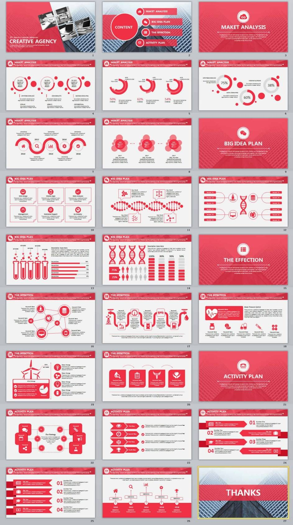 27 red business report professional powerpoint templates 2018