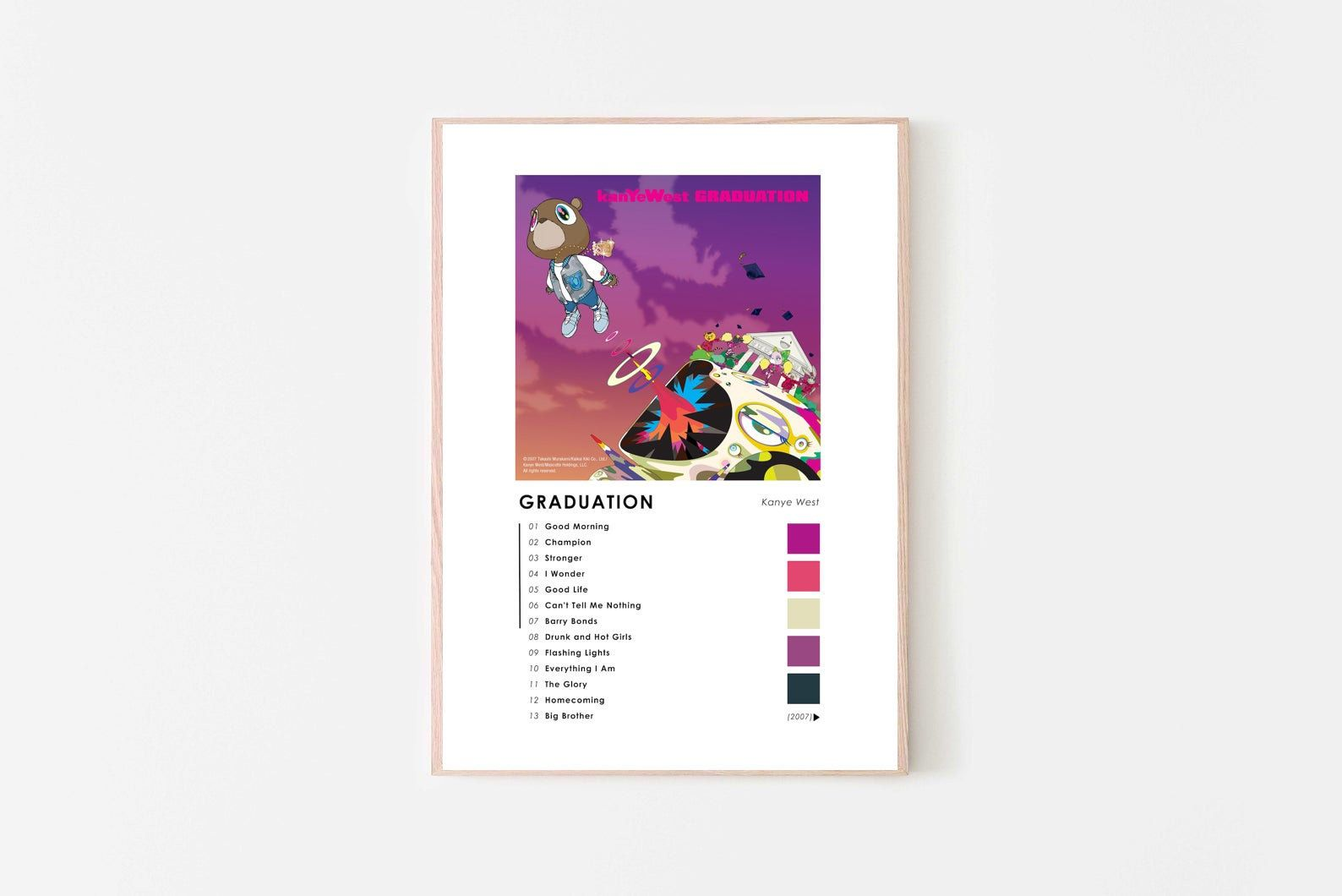 Kanye West Graduation Album Art Home Art Digital Download Etsy In 2020 Album Art Graduation Album Digital Download Etsy