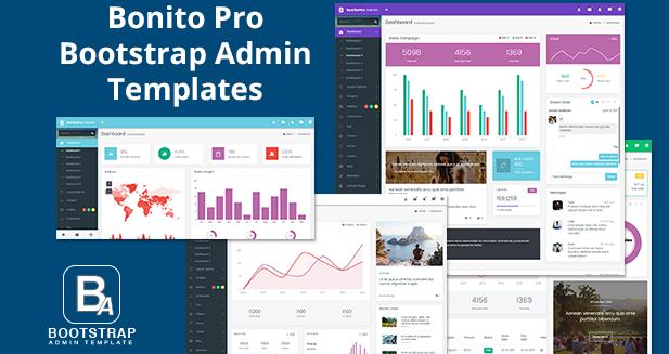 Free Bonito Pro Lite Bootstrap Admin Templates & Web