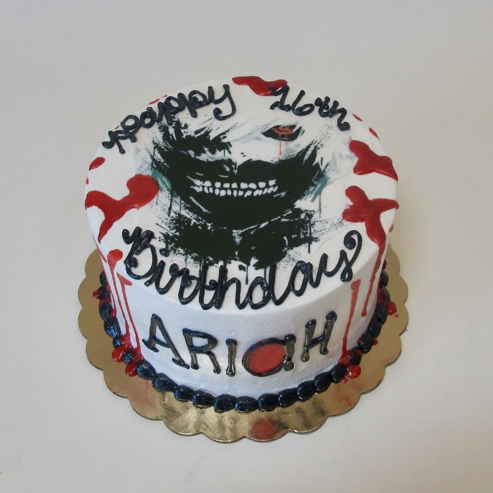 Tokyo Ghoul 16th Birthday 300556 Adult Birthday Cakes Creative