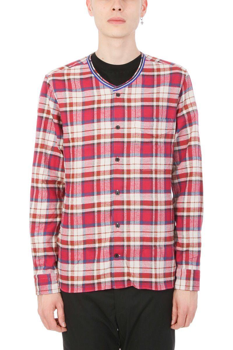 Lanvin Tartan Cotton Shirt Without Collar Lanvin Cloth Lanvin