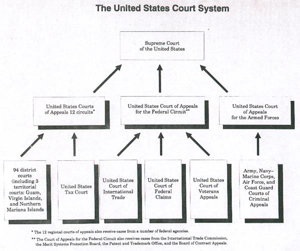 Structure Of Federal Court System Court Structure Government And