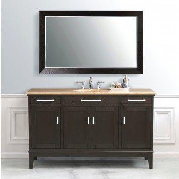 "Virtu Usa Marcellino Espresso 60"" Bathroom Vanity  Ls2129  Nj New Bathroom Vanities Nj 2018"