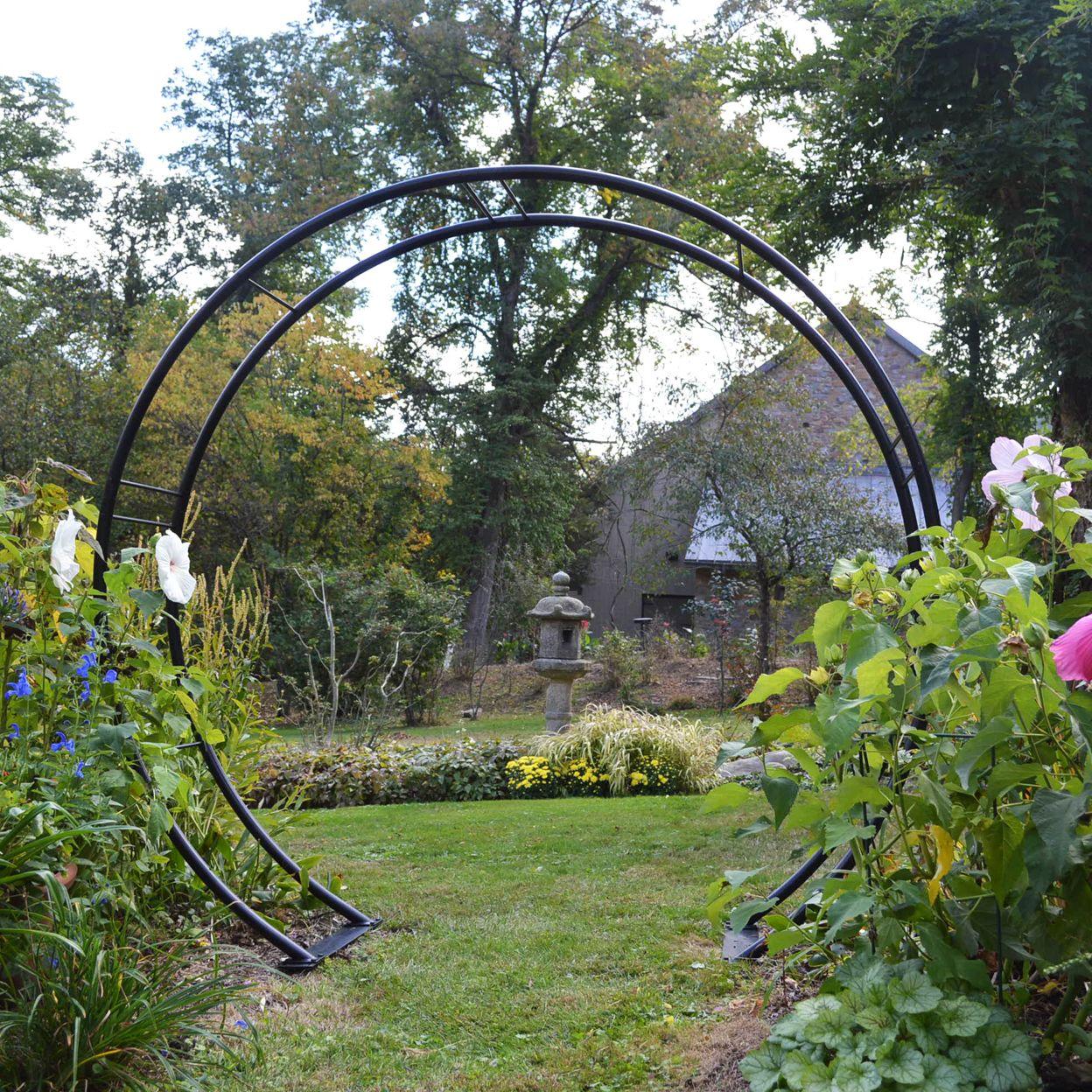 Rosenbogen Modern kinsman co 108 moon gate 108 h x 120 w garden ideas