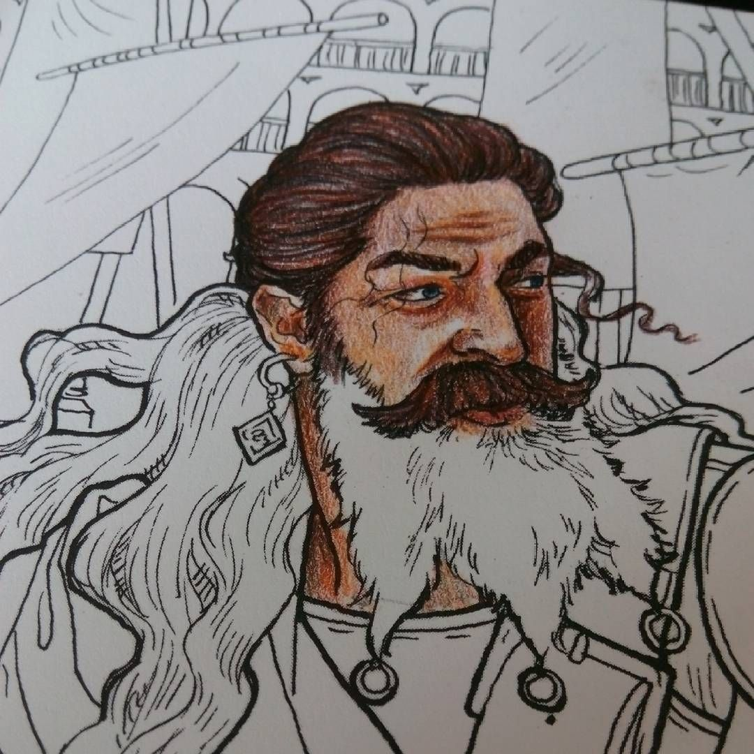 Already starting a new colouring project!  #gameofthronescoloringbook #daarionaharis #adultcoloringbook #colourpencils #colouring