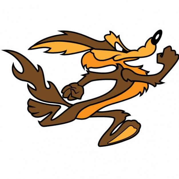 Dessin Anim 1970: Vecteur De Personnage De Dessin Animé De Coyote Wile