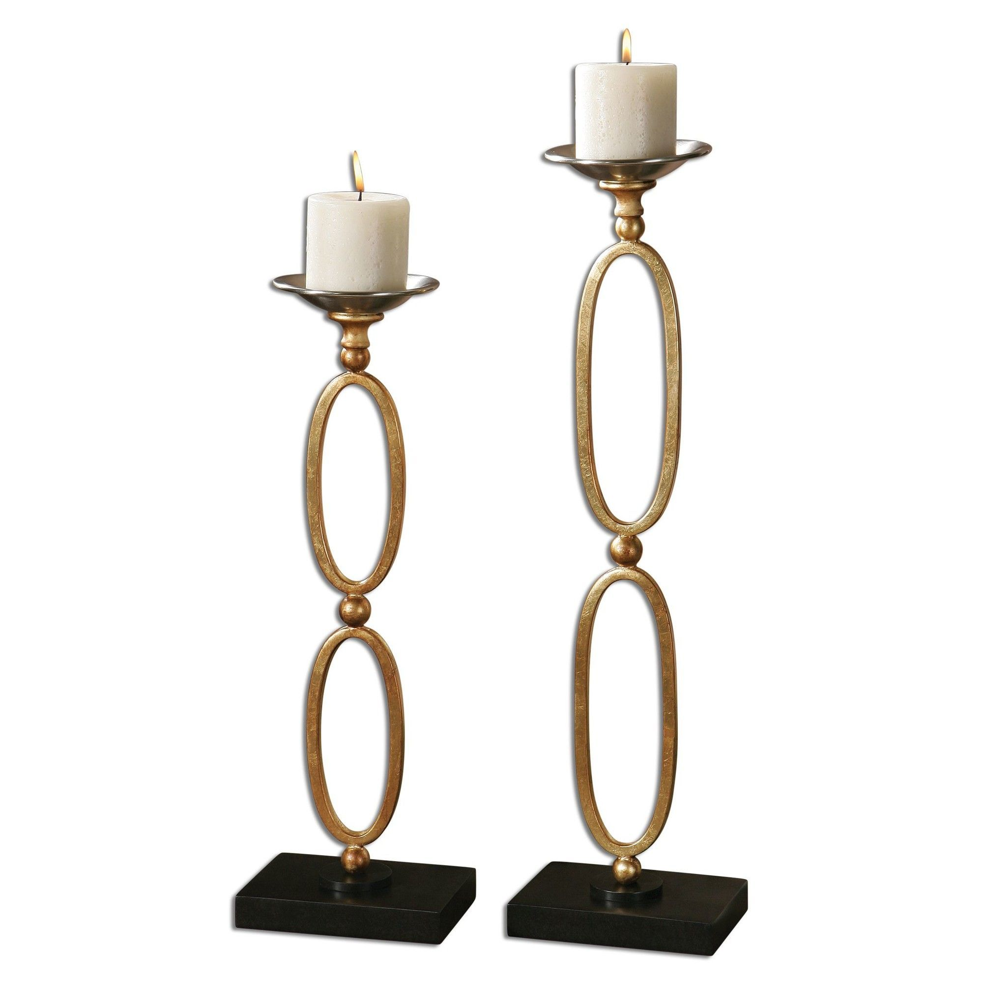 piece lauria chain link candlestick set products pinterest