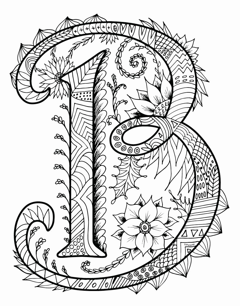 Letters Coloring Books For Adults Coloring Books Adult Coloring Book Pages Printable Coloring Book