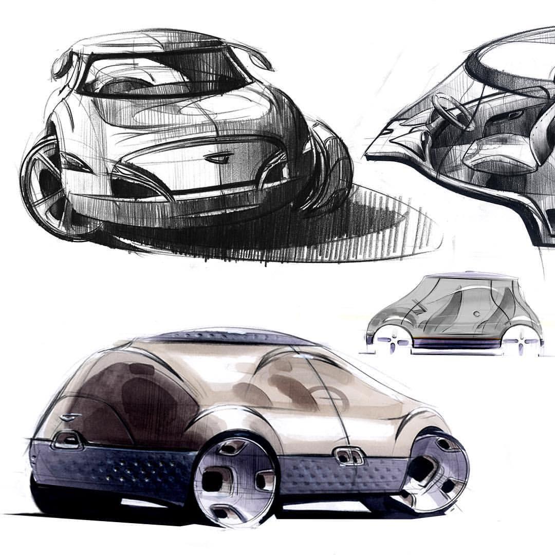 Throwback Thursday pt1. Again, to year 2007. Internship project Daihatsu Cha-Shitsu done at the Toyota/Daihatsu studio in Osaka. . . . . . . #cardesignconcept #toyota #daihatsu #daihatsuboon #daihatsujapan #toyotajapan #kcar #scalemodel #cardesign #industrialdesign #concept #conceptcar #vehicledesign #automotivedesign #design #japan #osaka #sketch #markersketch #pencilsketch