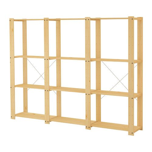 $69.98 GORM 3 sections/shelves IKEA Untreated wood; can be treated with oil or glazing paint for a personal touch and a more durable surface.