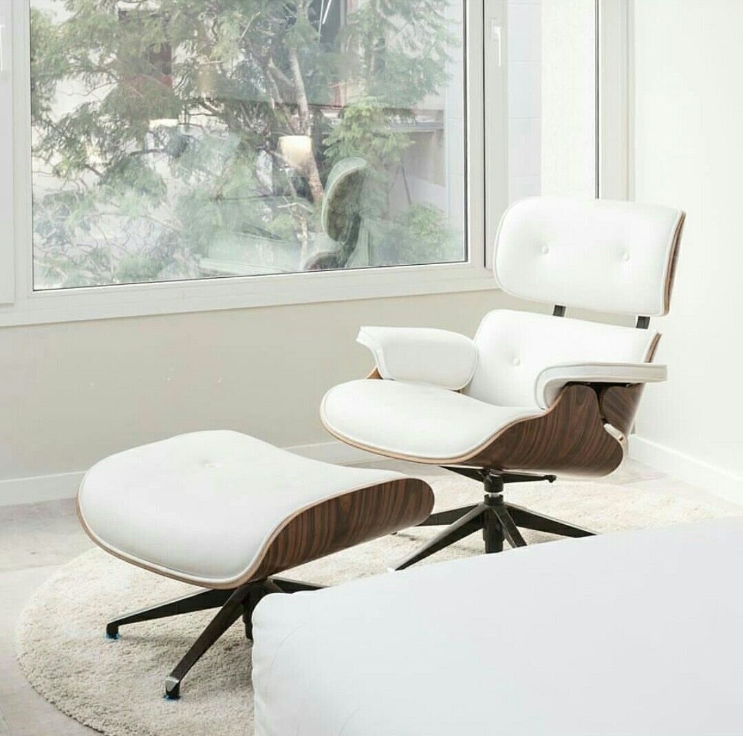 a classic eames lounge chair replica with palisander wood and italian leather f41 shop now - Eames Lounge Chair Replica