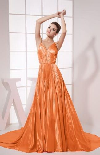 Elastic Satin Elegant Prom Gown - Order Link: http://www.thebridalgowns.com/elastic-satin-elegant-prom-gown-tbg7802 - SILHOUETTE: A-Line; SLEEVE: Sleeveless; LENGTH: Chapel Train; FABRIC: Elastic Satin; EMBELLISHMENTS: Pleated , Ruching - Price: 141.79USD