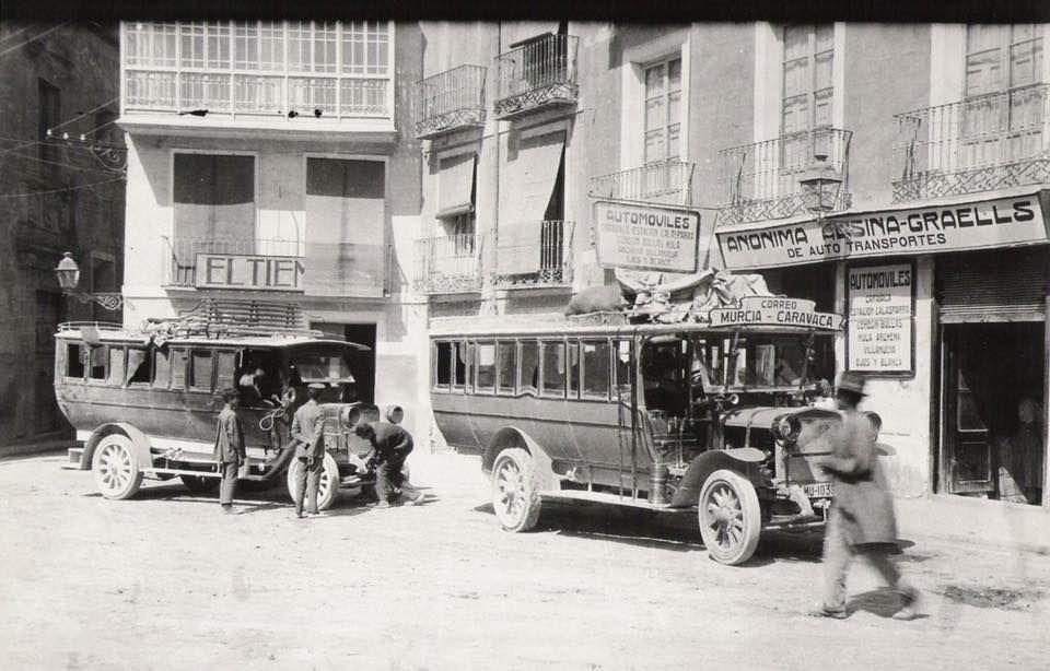 Autocares La Alsina Murcia Caravaca 1920 Murcia Medios De Transporte Fotos Antiguas