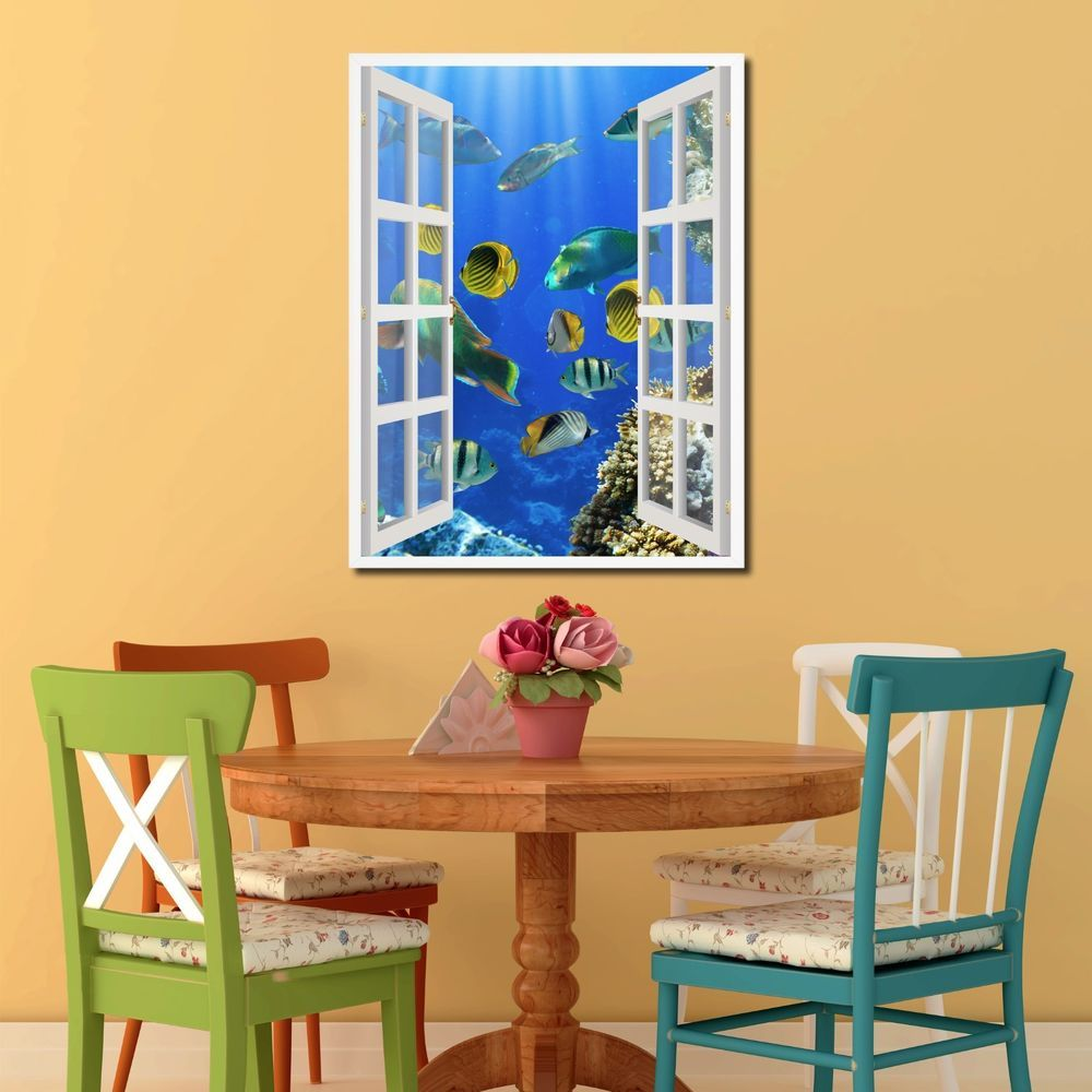 Tropical French 3D Window Home Décor Gift Ideas 24034 #SpotColorArt ...