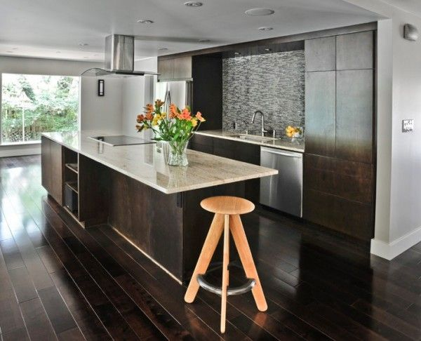 How To Use Dark Floors To Brighten Your Dull Home Dark Kitchen