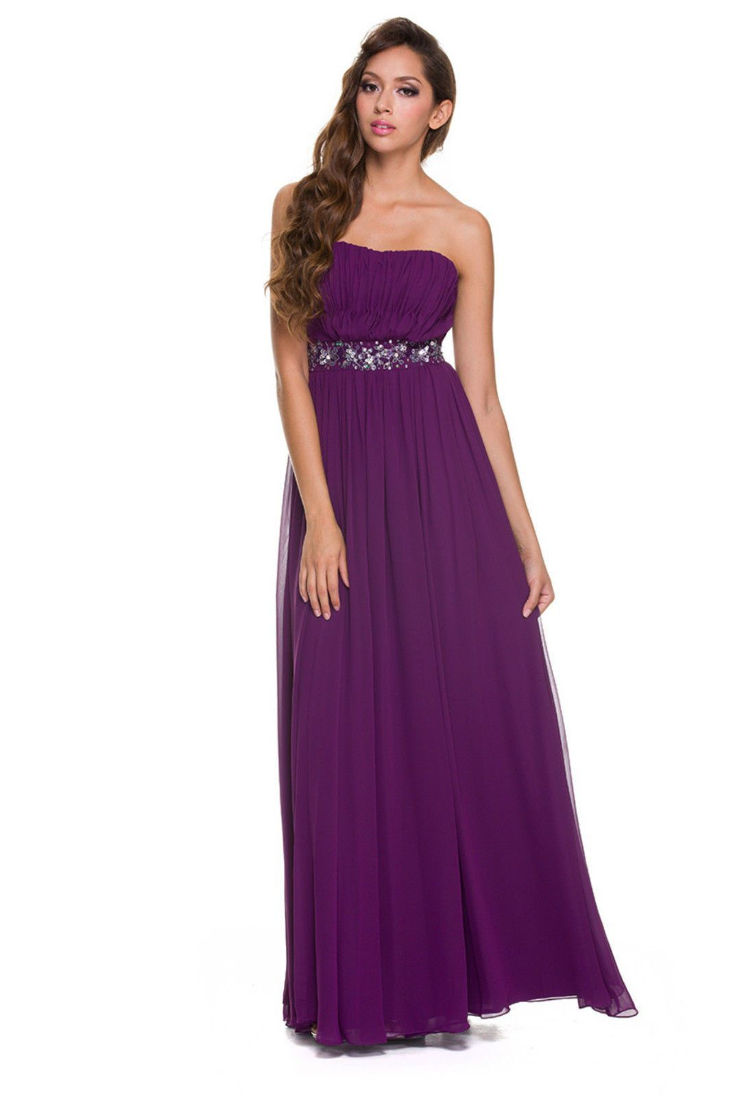 Long prom dress flowing pleated bridesmaids gown products