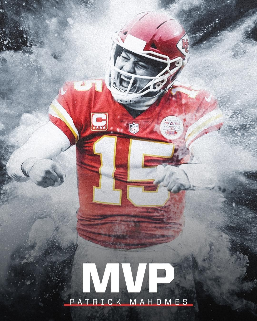 Sportscenter On Instagram Patrick Mahomes Becomes The 1st Chief Ever To Win Nfl Mvp Kansas City Chiefs Logo Kc Chiefs Football Kansas City Chiefs Football