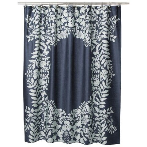 Placed Graphic Floral Shower Curtain Floral Shower Curtains Shower Curtain Curtains