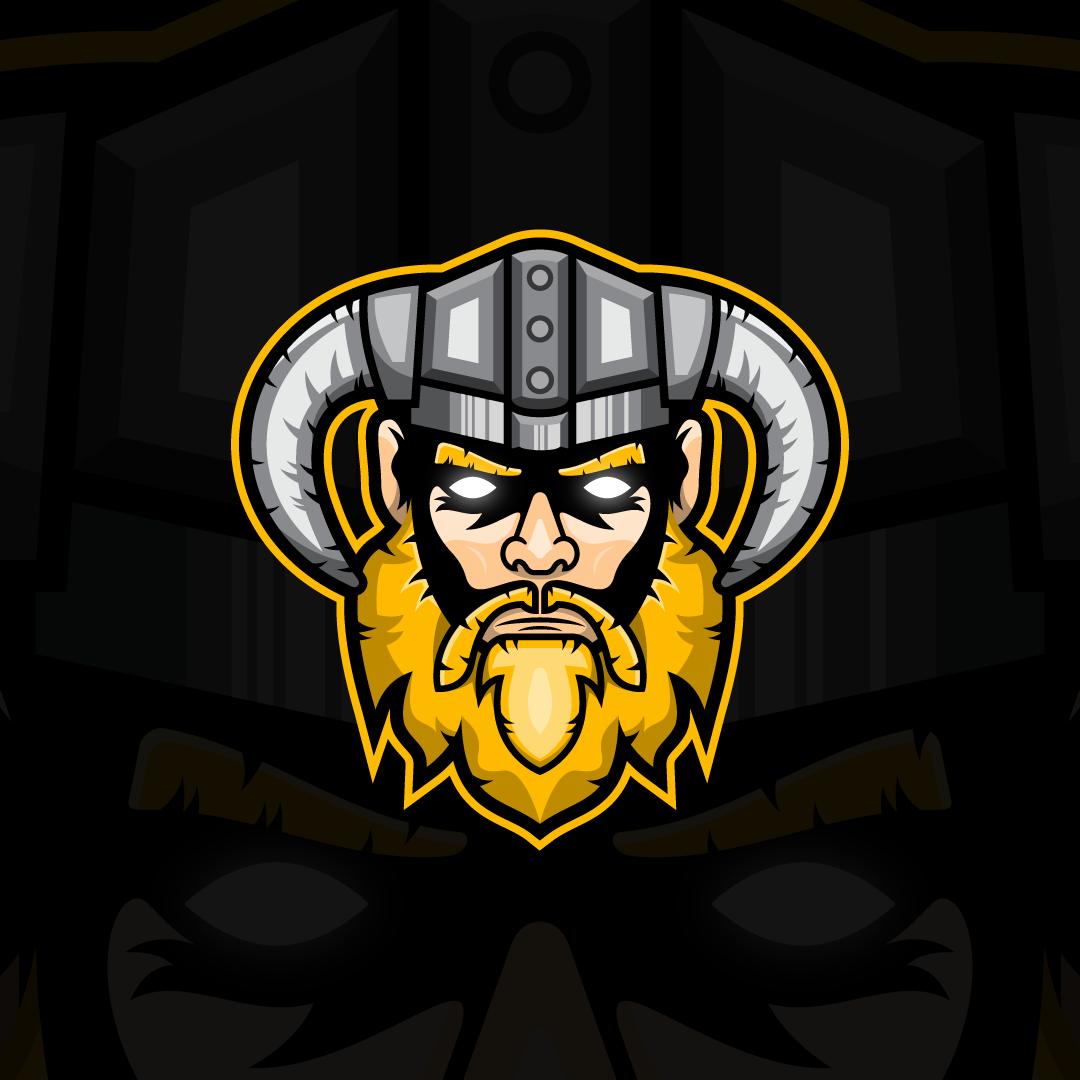 Esports Team Viking Logo Viking Logo Cartoon Art Logo Design