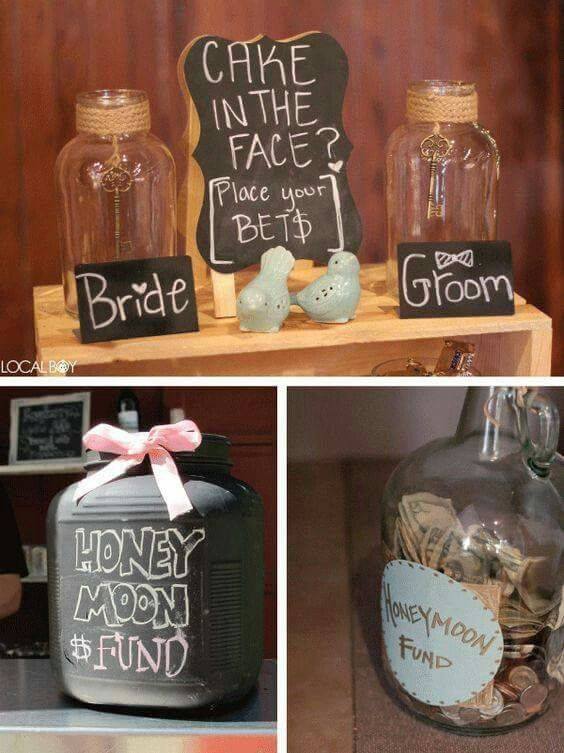 Money Jars Wedding Activities Fun Wedding Wedding Games