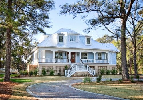 Beautiful Porch And A Second Story Entrance Low Country Homes