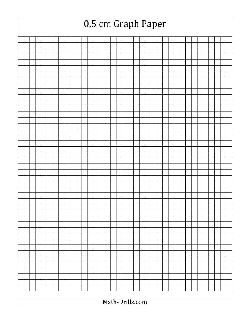 small resolution of 0.5 cm Graph Paper (A)   Graph paper