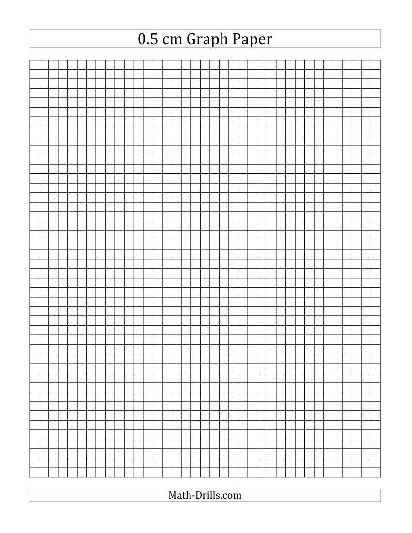 0.5 cm Graph Paper (A)   Graph paper [ 1100 x 850 Pixel ]