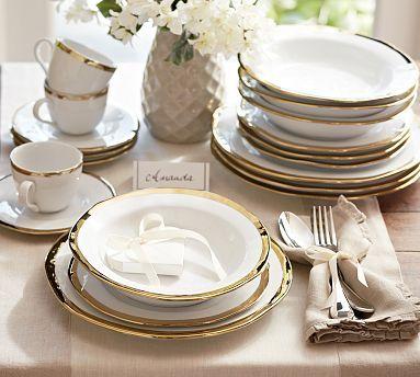 Caroline Dinnerware Gold Dinnerware Gold Dinnerware White Dinnerware White and gold dinner plates