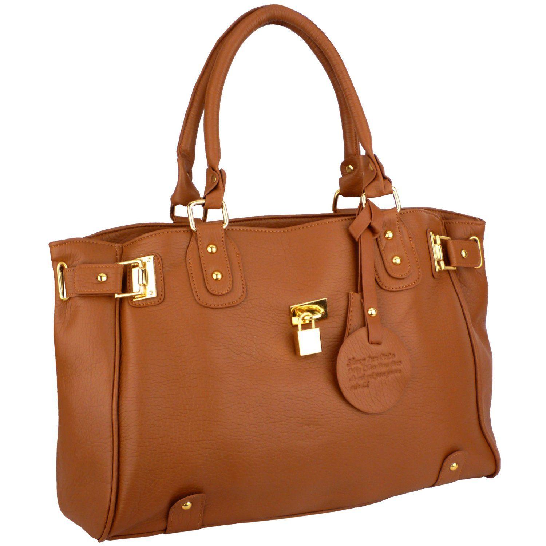 Glamour Padlock Designer Inspired Shopper Hobo Tote Bag Purse Satchel Handbag - $29.99