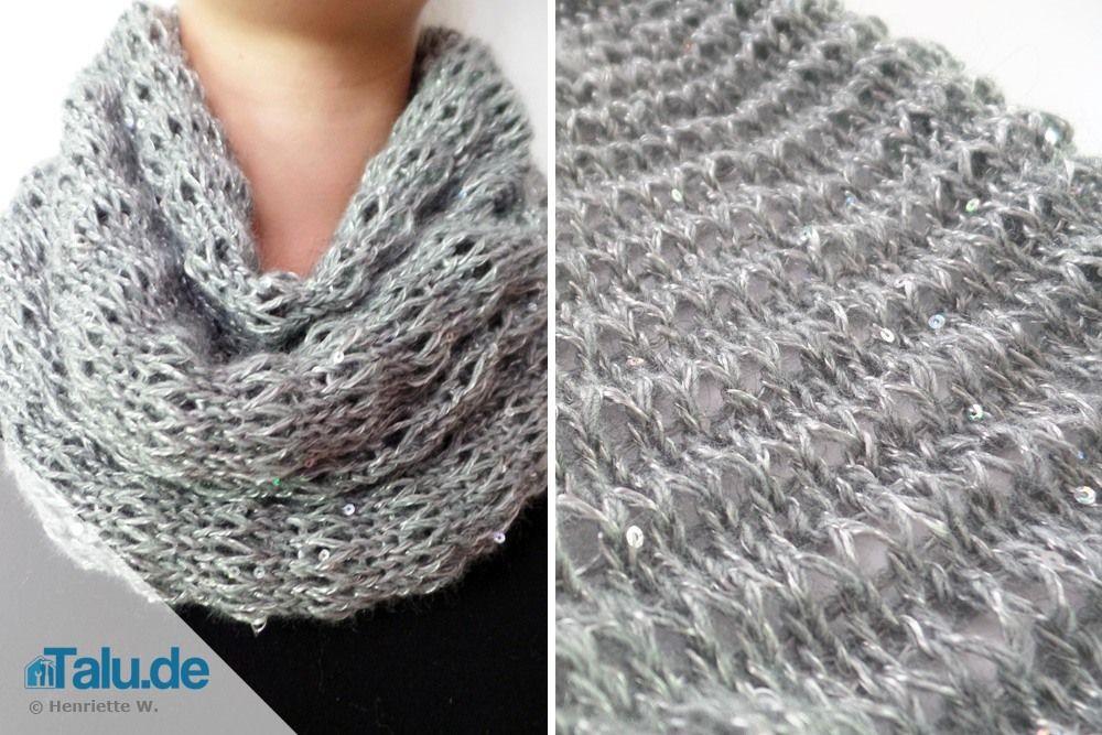 Loop-Schal selbst stricken - DIY Schlauchschal | Schlauchschal ...