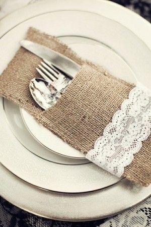 rustic wedding service ware