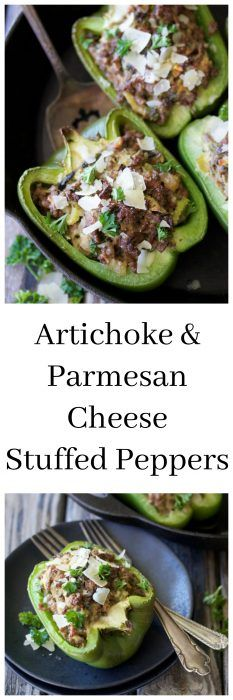 Artichoke & Parmesan Cheese Stuffed Peppers Recipe