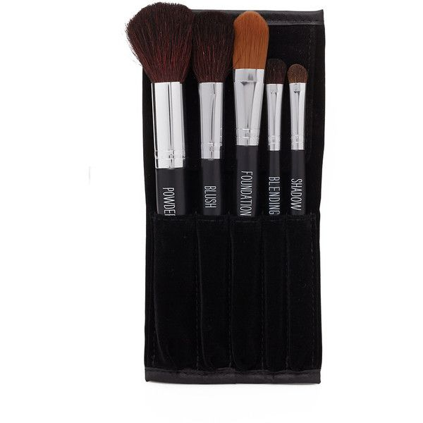 Forever 21 Professional Makeup Brush Set (€12) ❤ liked on Polyvore featuring beauty products, makeup, makeup tools, makeup brushes, blush makeup brush, shadow brush, foundation brush, powder brush y blender brush