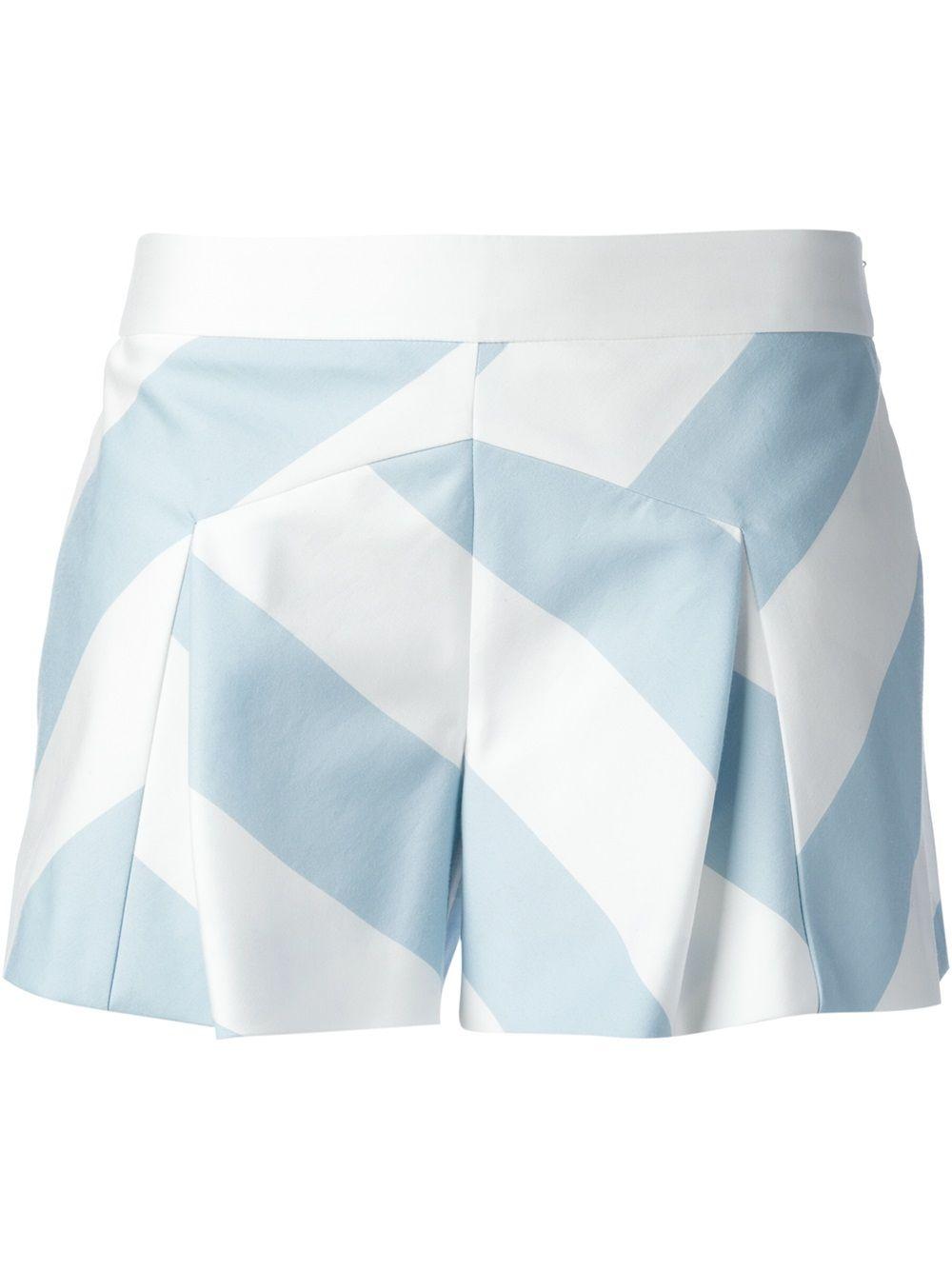 Shop MOSCHINO CHEAP & CHIC  colour block shorts from Farfetch