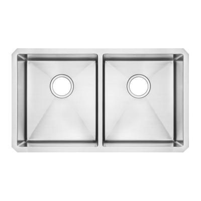 American Standard Tulsa 33 In X 22 In Double Basin Stainless Steel