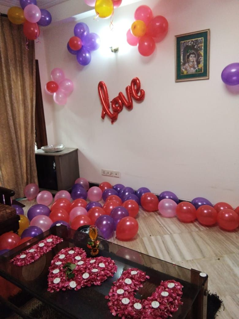I Love You Decoration By Haplun Birthday Room Decorations Birthday Balloon Decorations Balloon Decorations