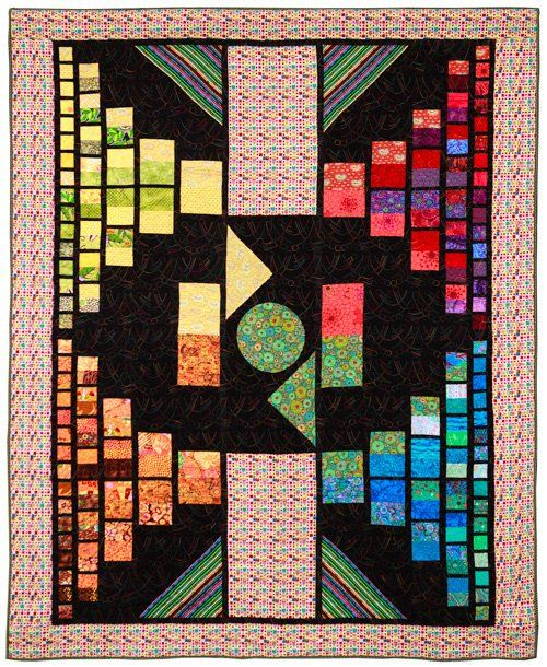 Large Quilts, 2nd Place: Cinderella Story by Marie Deatherage, quilted by Nancy Stovall.  2013 Northwest Quilting Expo.