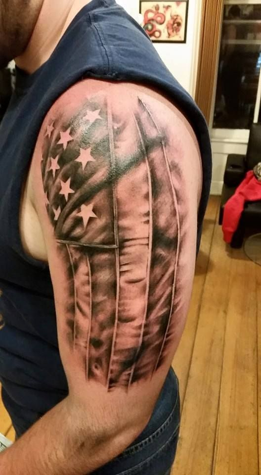 American Flag Arm Tattoo Sleeve