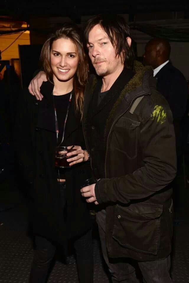 Norman Reedus with girlfriend Cecilia Singley. So