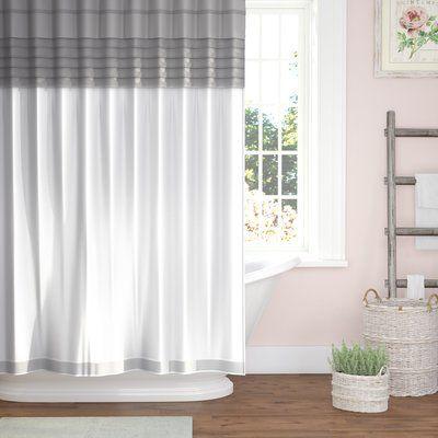 One Allium Way Santos All In One Shower Curtain Set Curtains