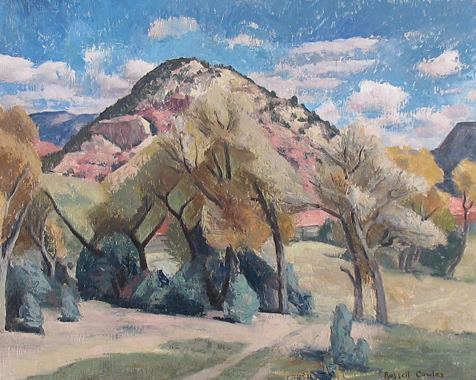 Russell Cowles Mountain Landscape Springtime Oil On Wood Panel 24 X 30 Mountain Landscape American Art Art