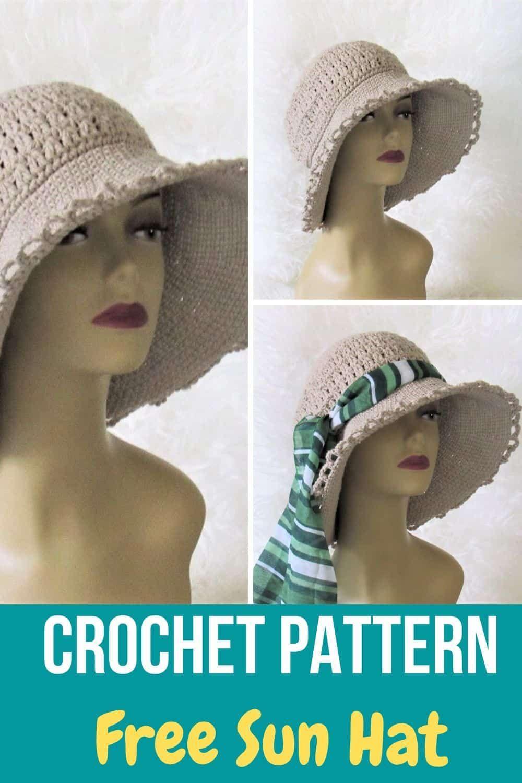 Crochet Sun Hat Free Pattern, No Wire   Crochet Dreamz   Crochet ...