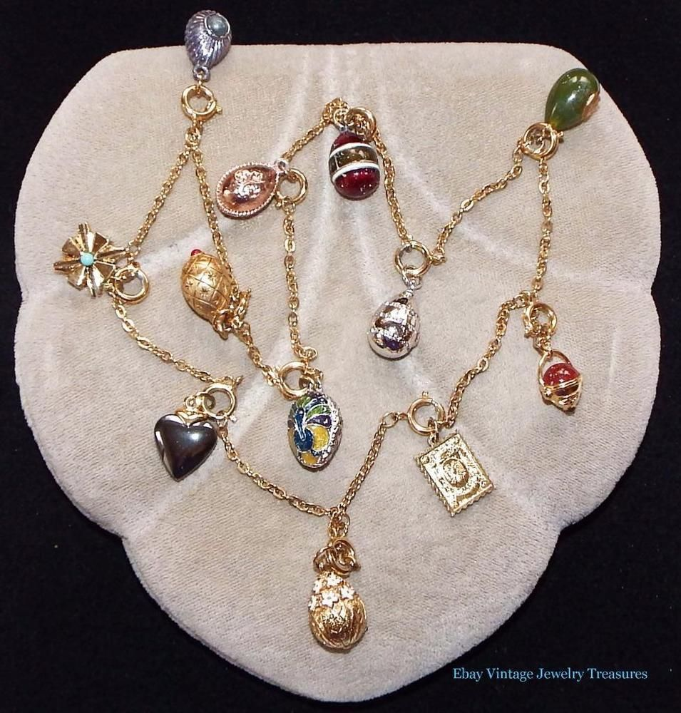 JOAN RIVERS Russian Faberge Enamel Egg Necklace 1 Includes 12 Eggs