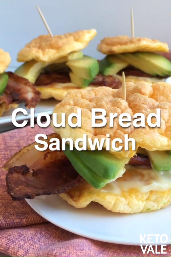 Keto Cloud Bread Sandwich