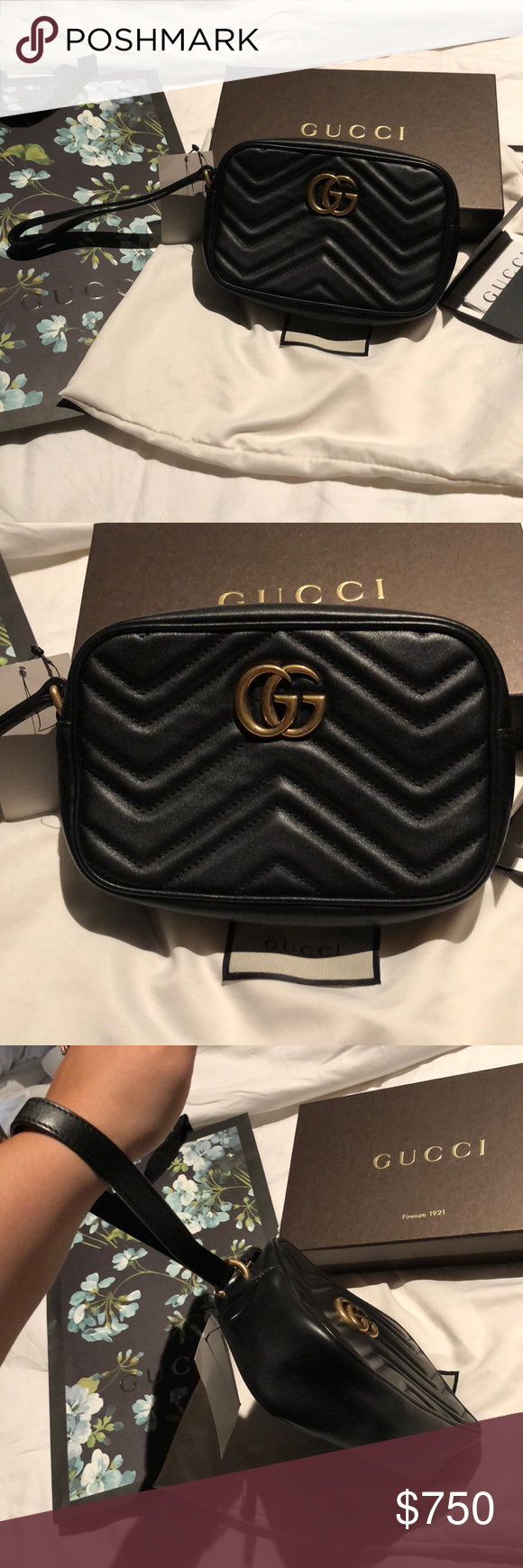 952a0ecb1d5e Gucci Marmont wristlet clutch RARE Gucci Marmont wristlet! New with tags!!  Comes with box, shopping bag, dust bag, tags and receipt upon request!