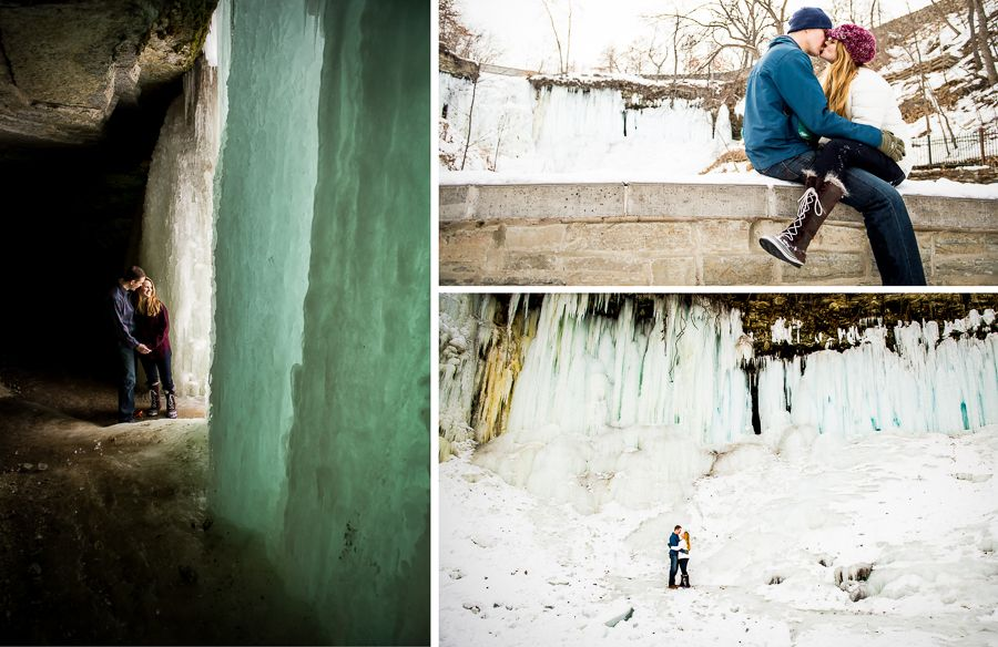 Minnehaha Falls Engagement Session in the Winter | A Frame Forward Photography | Minneapolis/St. Paul » Wedding & Lifestyle Portrait Photography