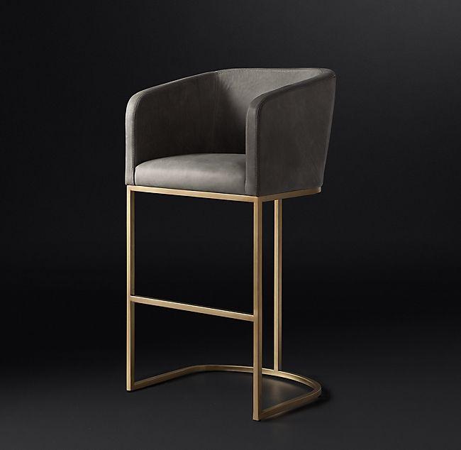 Tremendous Emery Barrelback Leather Stool In 2019 Product Inspo Machost Co Dining Chair Design Ideas Machostcouk